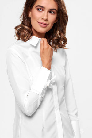 Long Sleeve Shirt with Bow Detail