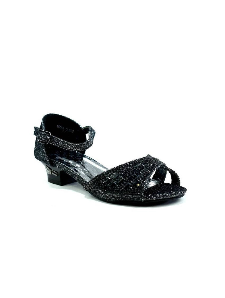 GSA-5305 CK-15 OPEN TOE STRAPPY SANDAL BLACK PACK OF 12