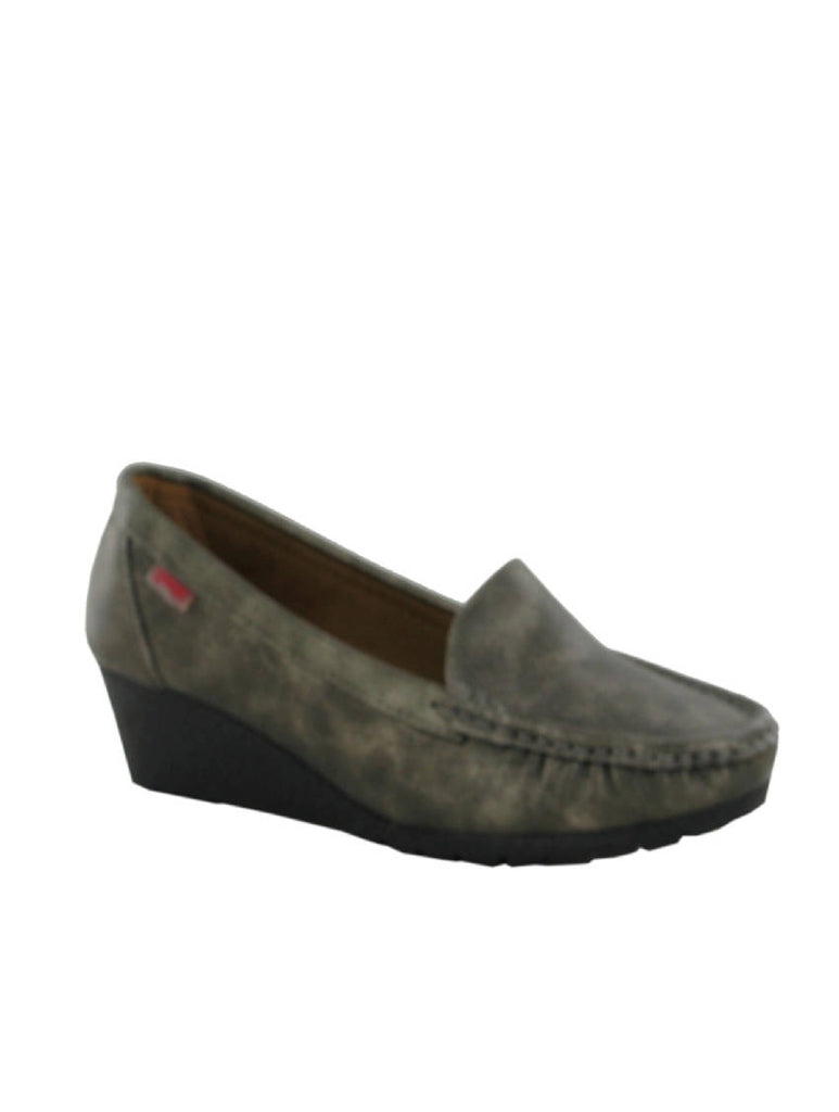 LSH-5663 1212-11 MID WEDGE STTICHED SHOES - GREY - PACK OF 12 - SIZE 3 TO 8