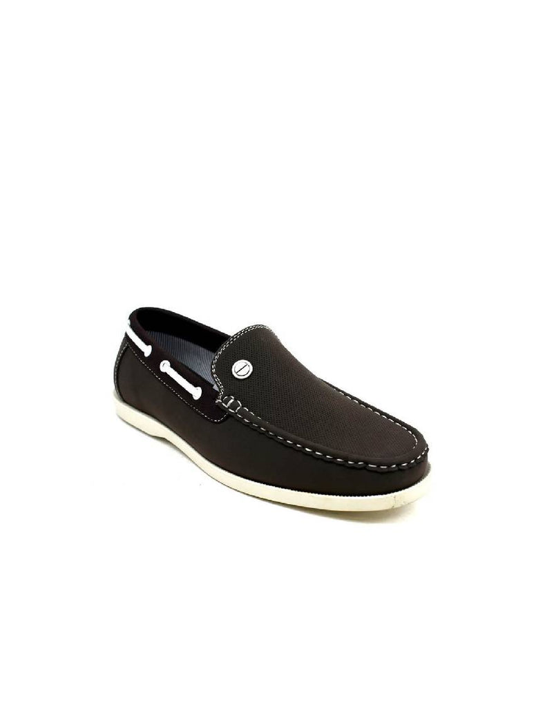 MSH-8070 8374-2 MENS BROWN SLIP ON SHOES