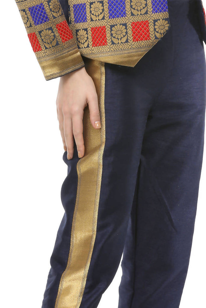 Brocade Zari Formal Cropped Trousers