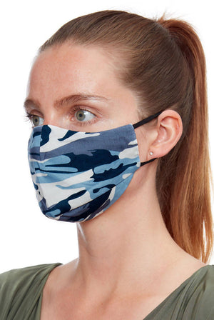 FABRIC FACE MASK - Blue Camouflage