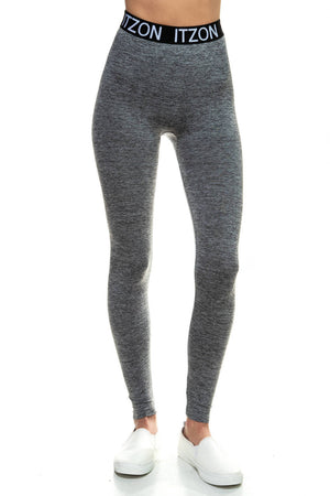 Active Long Heather Gray Leggings