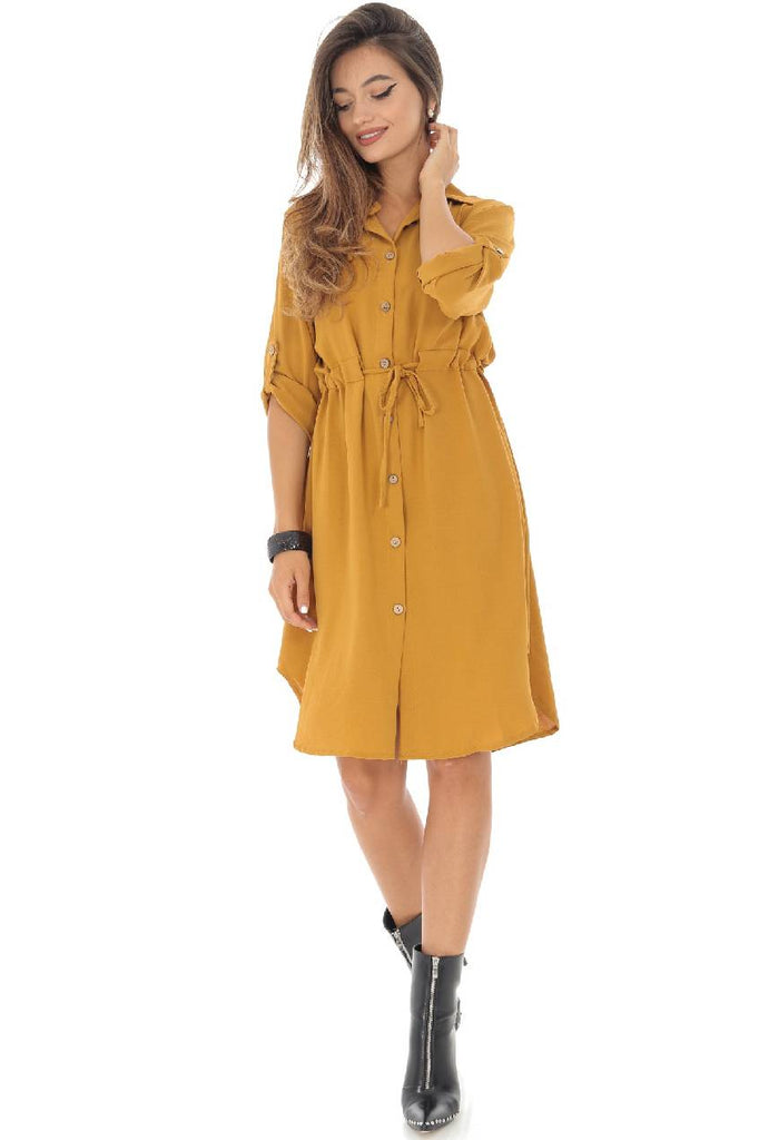 Mustard shirt-dress, Aimelia - DR3959