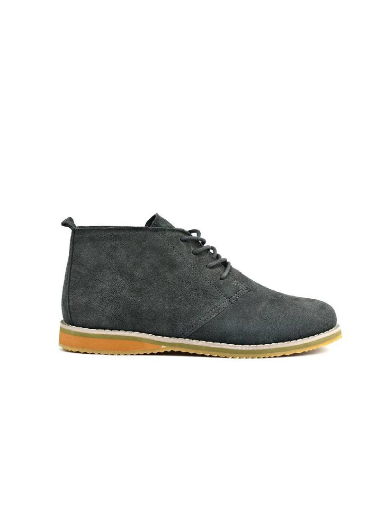 MBO-3737 DESERT BOOTS - GREY SUEDE - PACK OF 12 - SIZE 7 TO 12
