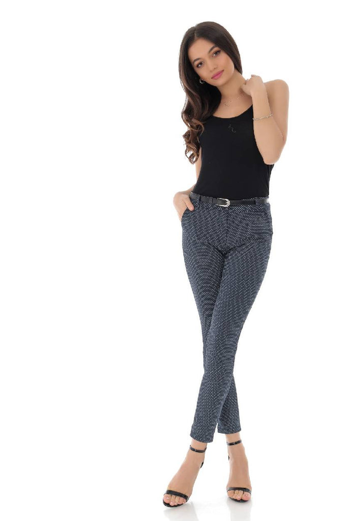 Navy office trouser with pockets, Aimelia - TR350
