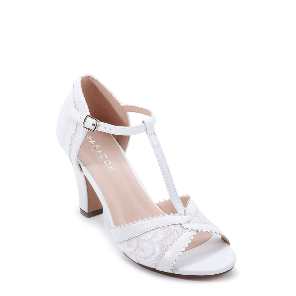 Lace 'Queen' T-bar High Heel Sandal
