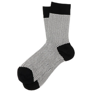 SUVA Zigzag Pattern Cotton Socks Men