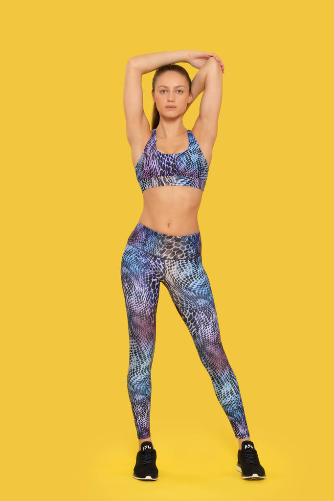 SNAKE PRINT LEGGINGS made with Recycled Plastic