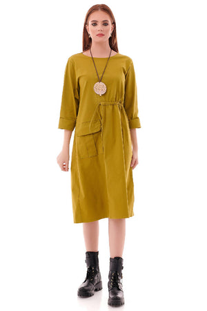 Trendy oversized Lime Tunic - AIMELIA - DR4223