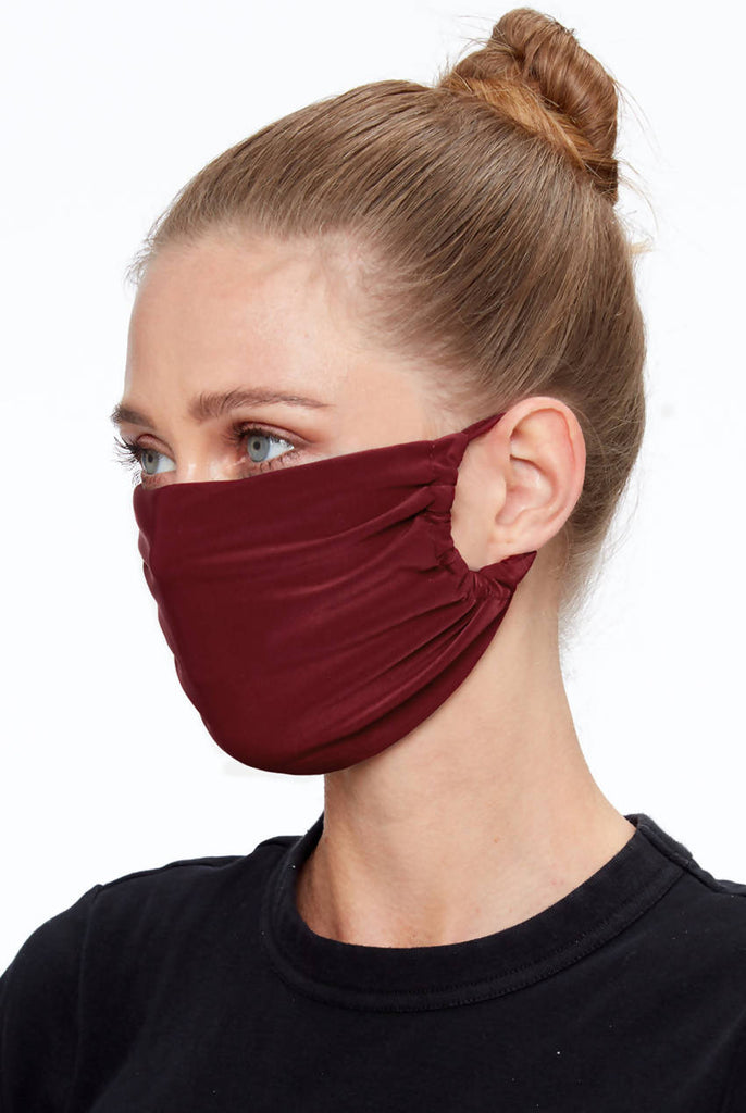 Fabric Face Mask - Wine Red