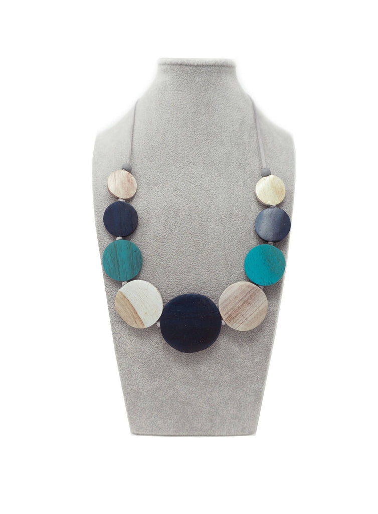 AN06N NECKLACE NAVY MULTI