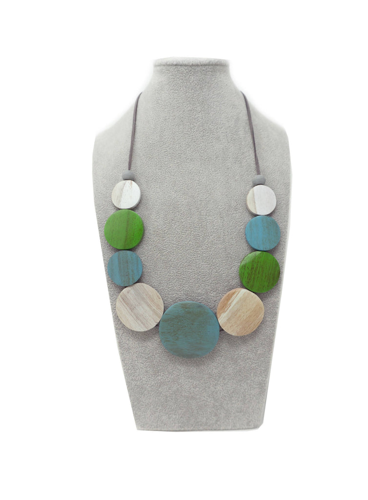 AN08N NECKLACE GREEN MULTI