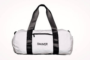 Swaver Satin White Barrel Bag