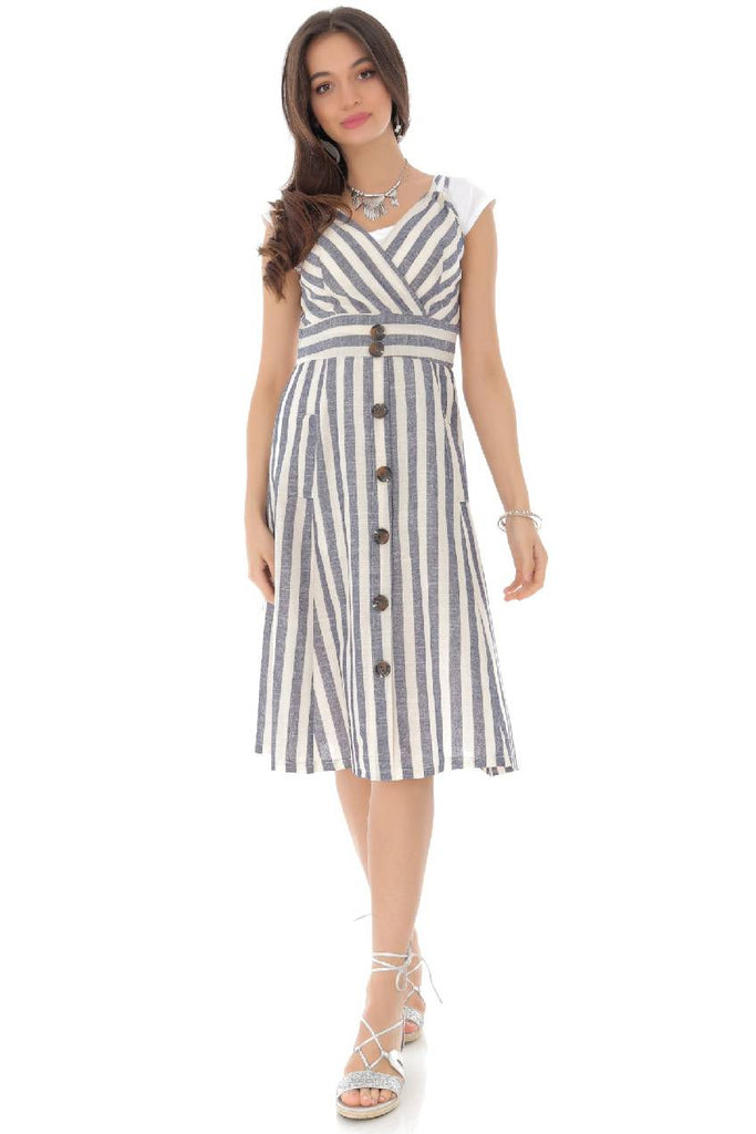 Striped cotton summer dress, Aimelia - DR4126