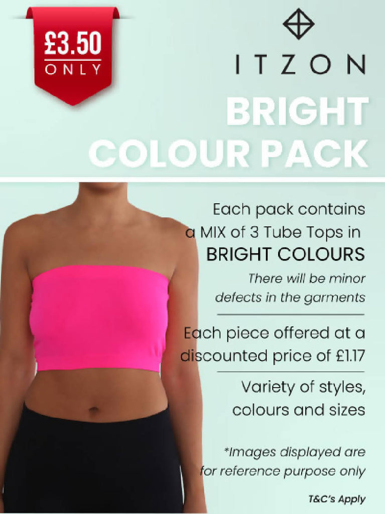 Tube Tops Value Pack - Bright Colours
