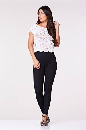 Flora Vintage Inspired Embellished Flapper Top