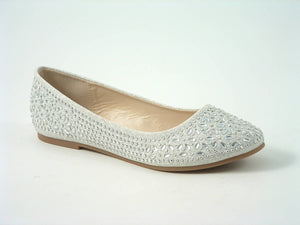 Divine Diamante Flat Ballerina Shoes
