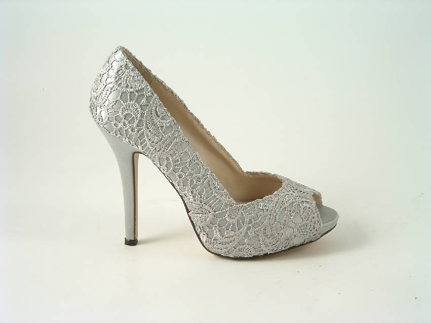 Lace Upper peep Toe Court Shoes