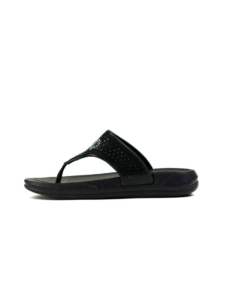 GLE-7139 GIRLS FLIP FLOPS BLACK