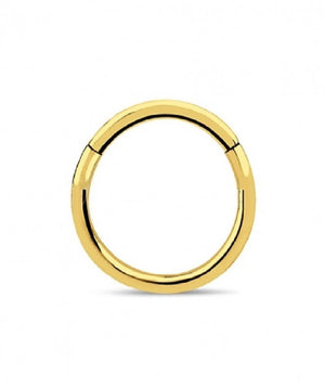 Surgical Steel Hinged Septum Gold