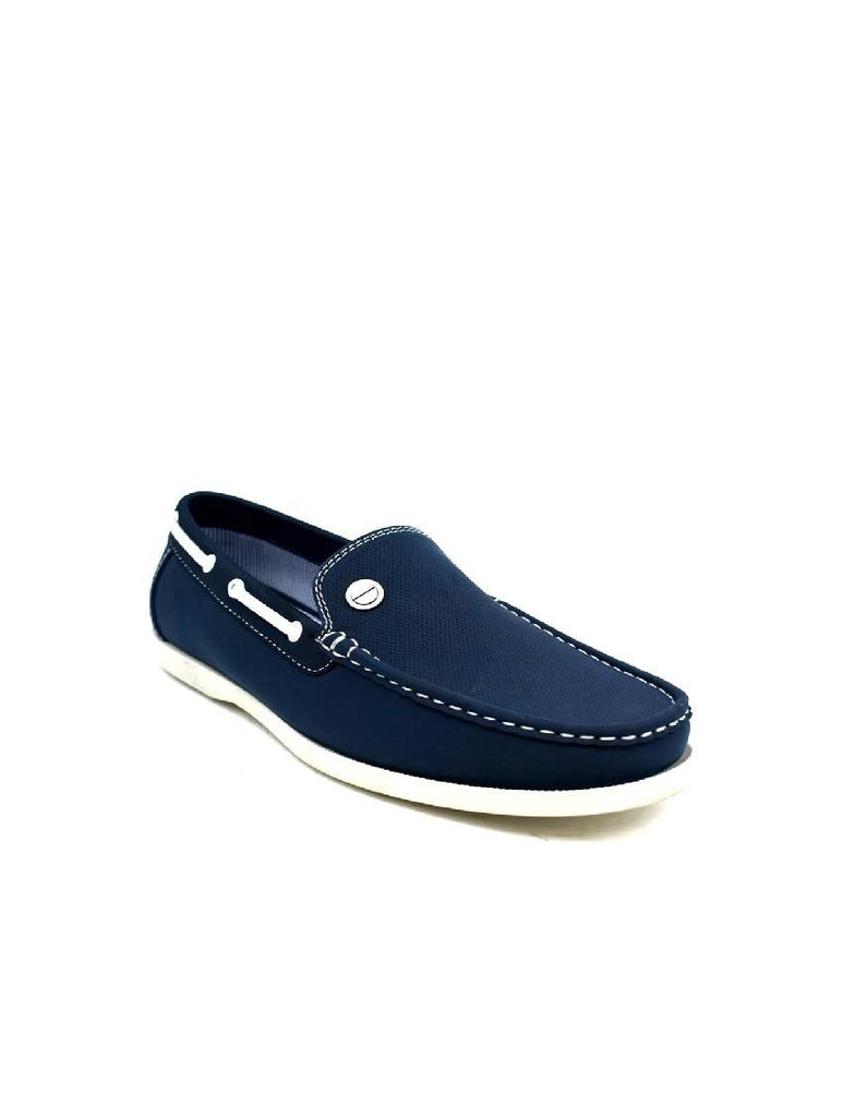 MSH-8070 8374-2 MENS NAVY SLIP ON SHOES