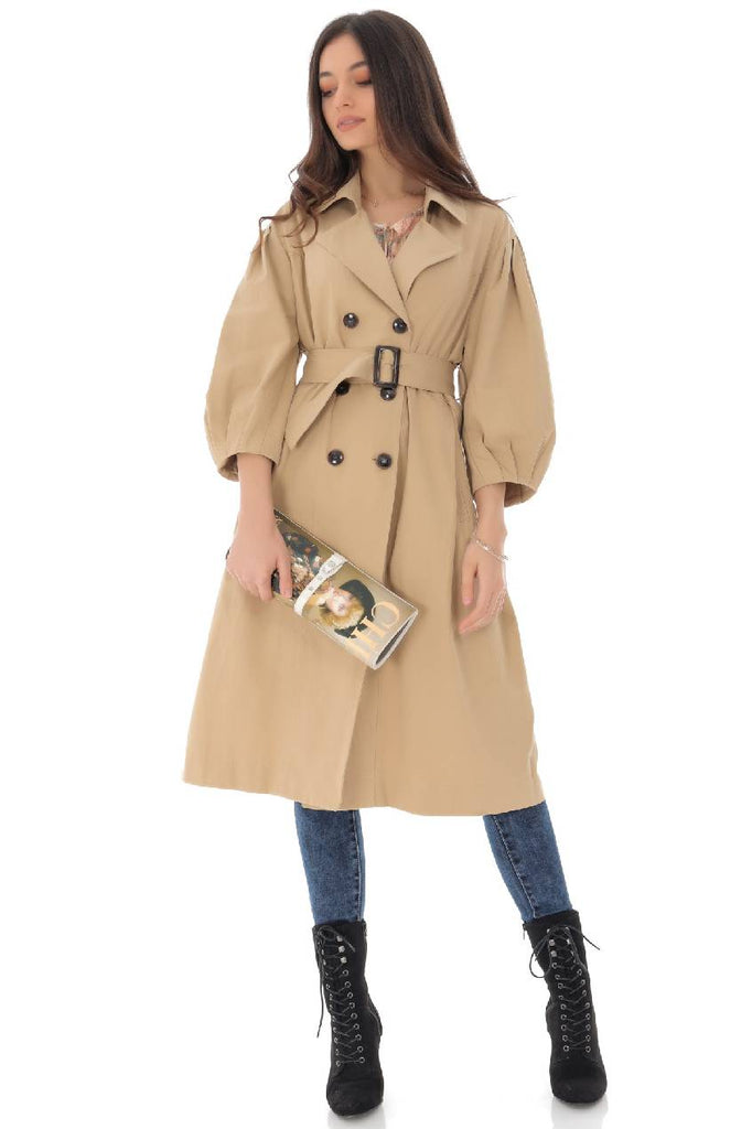 Chic cotton trench coat, Aimelia - JR514