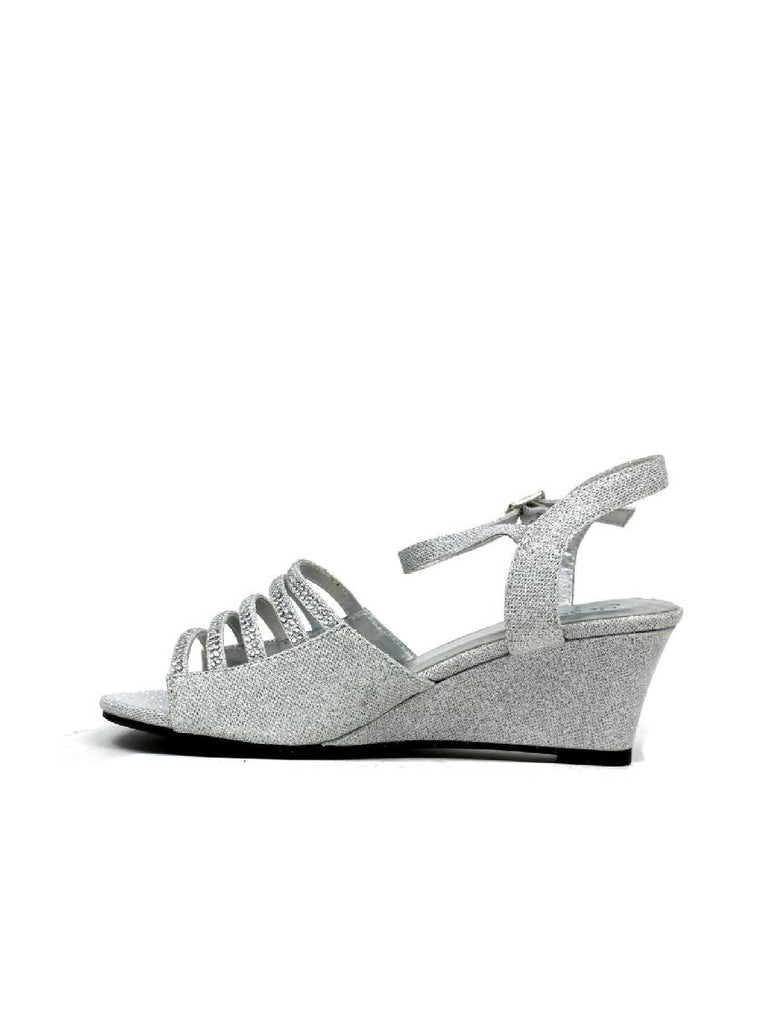 LSA-7950 J788 WEDGE HEEL PIN BUCKLE SANDAL