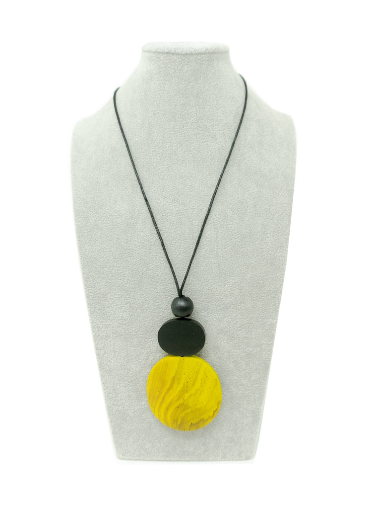 DW001N NECKLACE NATURAL BLACK