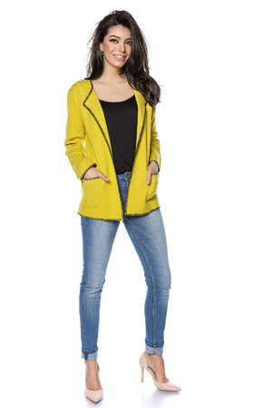 Yellow soft cardigan, Aimelia - BR2292