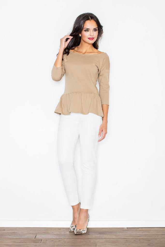 Beige Women's Blouse