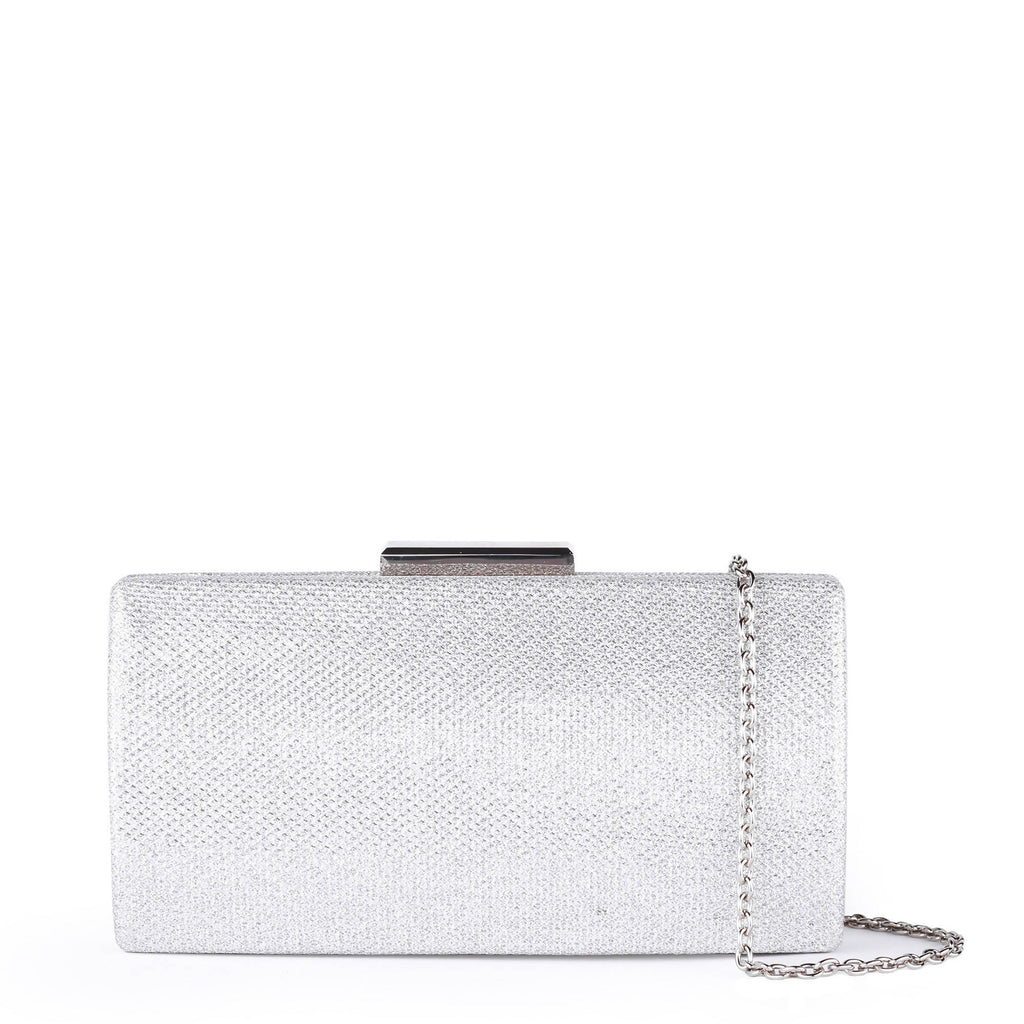 Dionne Silver Box Clutch Bag