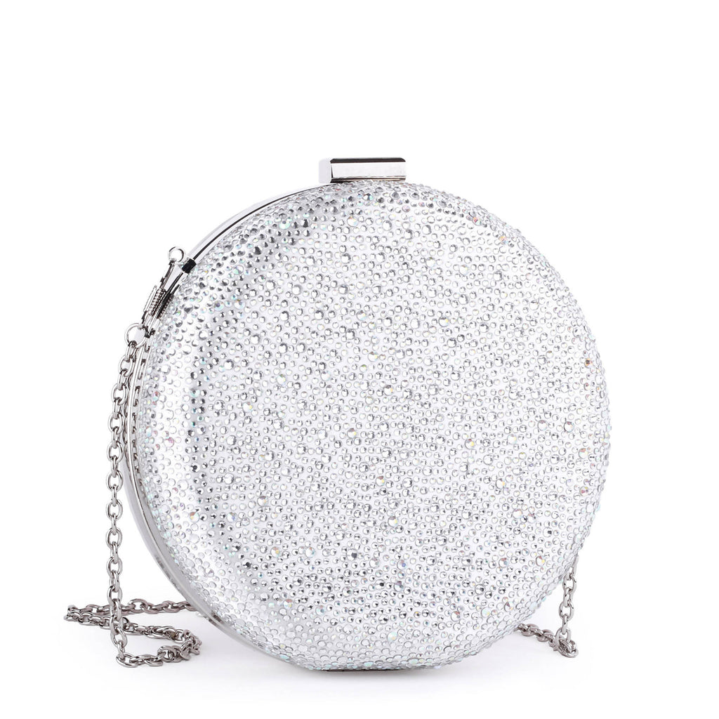 Desiree Ivory Circular Diamante Handbag
