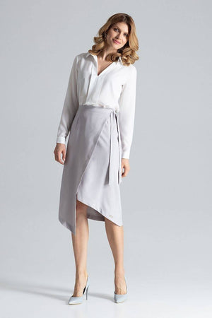 Asymmetric Wrap Skirt M629