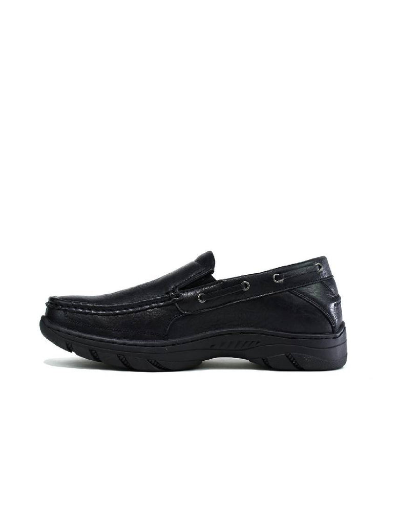 MSH-8144 1907-3 SLIP ON SHOES - BLACK - PACK OF 12 - SIZE 7 TO 12