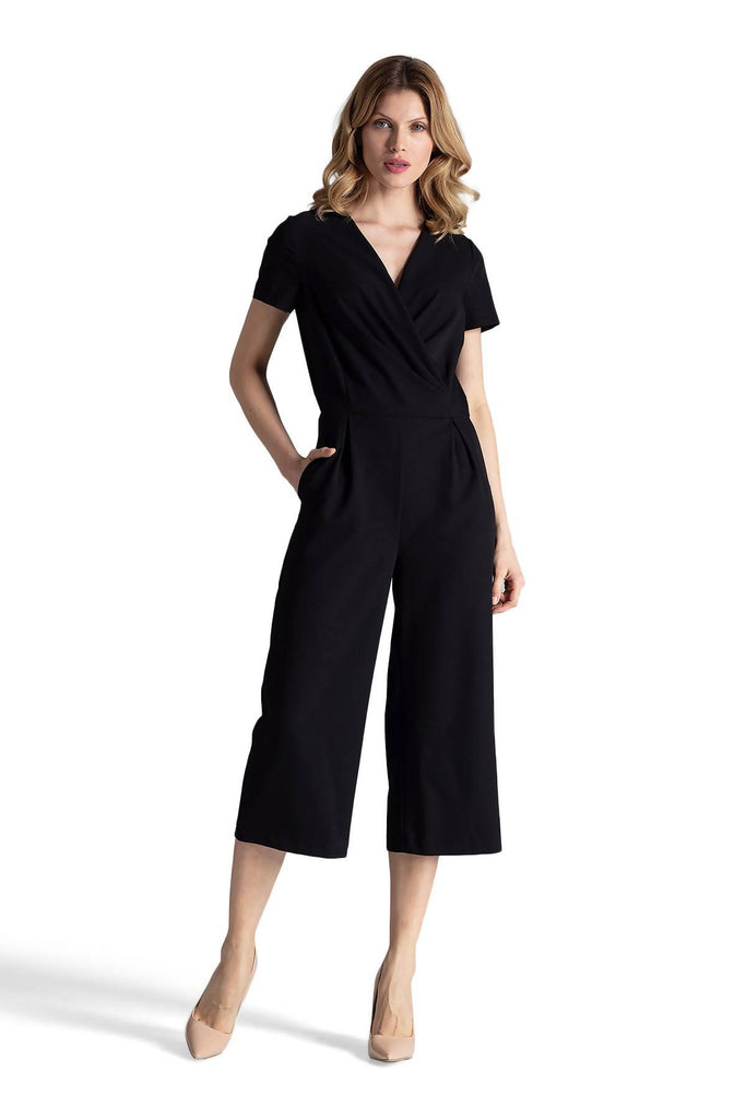 Tea length wide leg Jumpsuit M664
