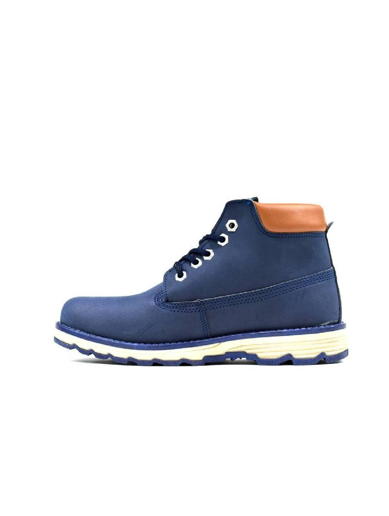 MBO-5595 MENS LACE UP ANKLE BOOT NAVY