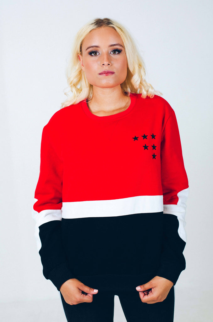 TRICOLOR STARS SWEATSHIRT NELLY