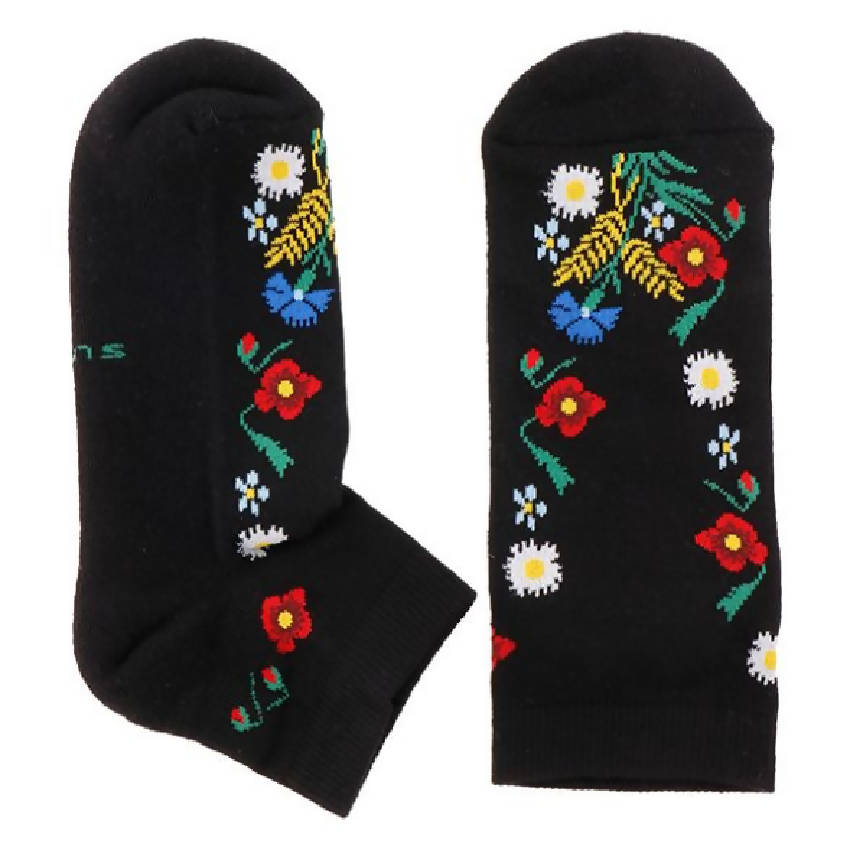 "SUVA Low cut half terry socks ""Muhu Island"" - Women - Black"