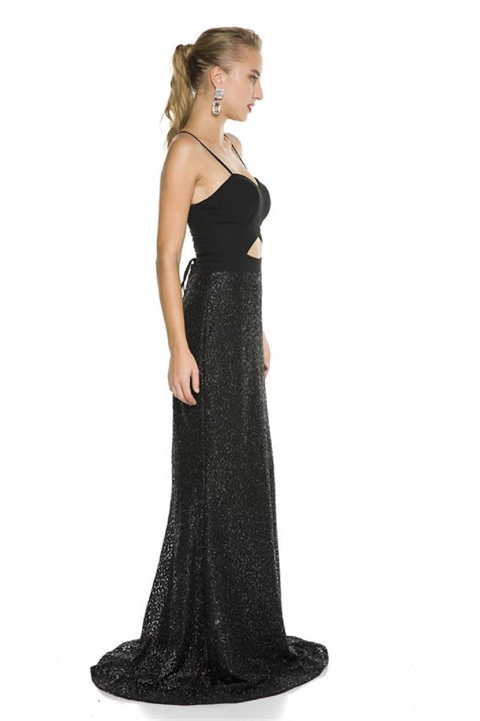 Back to Low-cut Sweetheart Neckline Maxi Dress