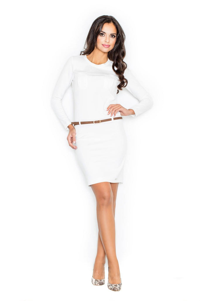 Bodycon Dress with Hip Belt M414
