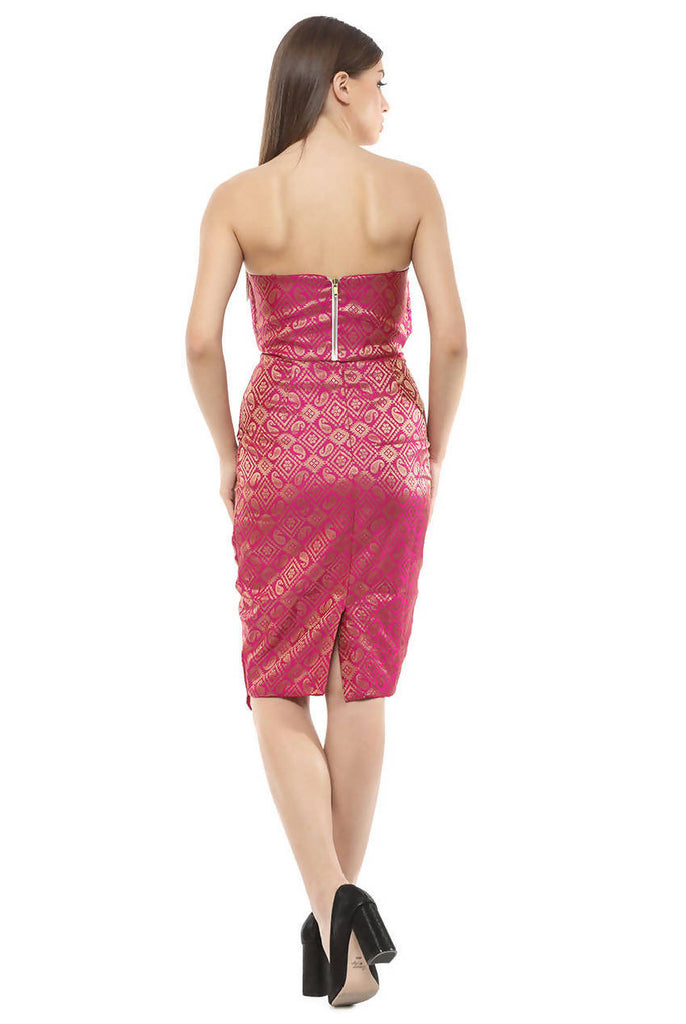 Cross Over Pencil Fit Sheath Skirt