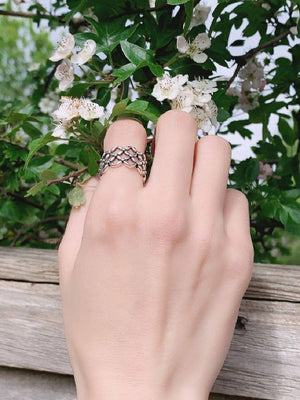 Silver Filigree Cage Ring