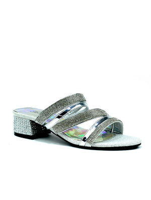 LSA-7256 DIAMANTE HEEL FASHION SANDAL - SILVER