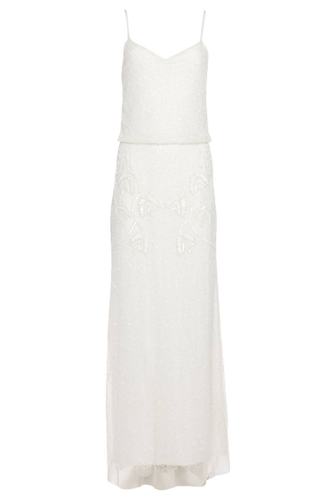 Chicago Maxi Dress in Off White
