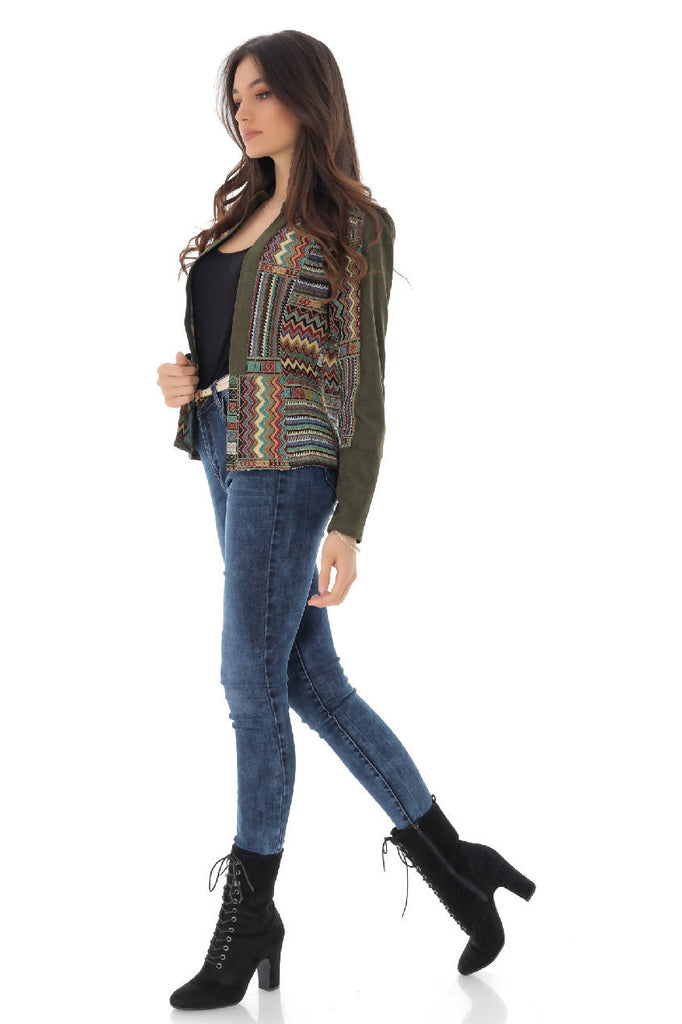 Jacket with multicolor embroidery Aimelia-JR369