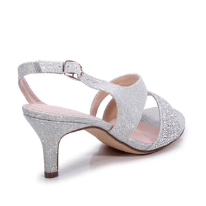 Glitter 'Lumley' Wide Fit Low Heel Sandal