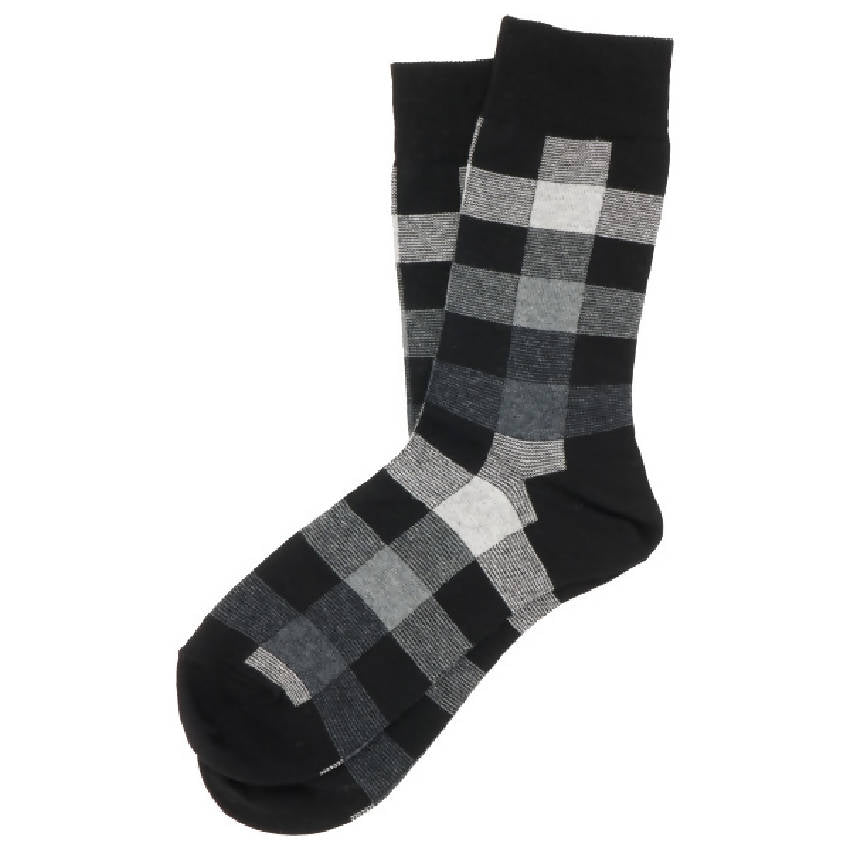SUVA Checkered pattern crew socks Men