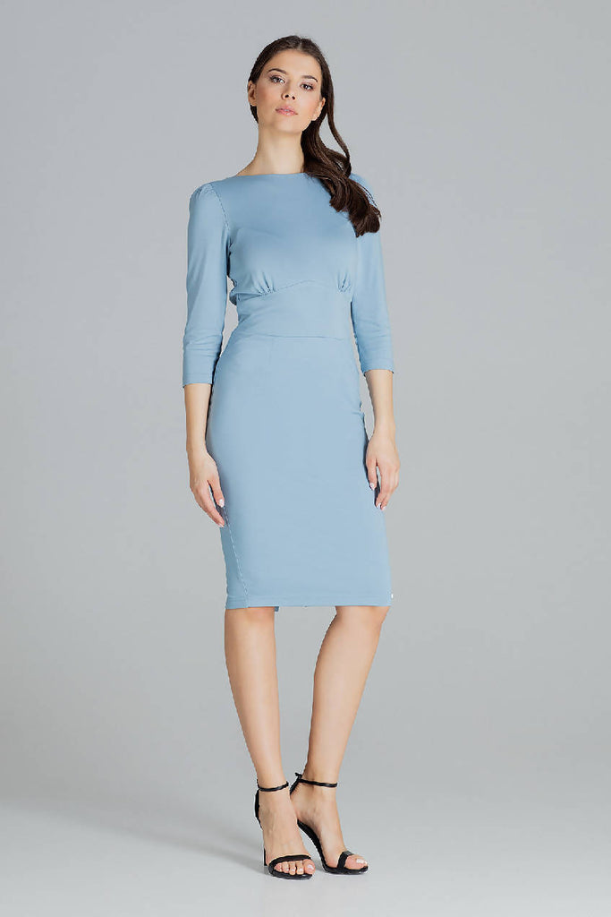 Fitted Midi Dress by Lenitif