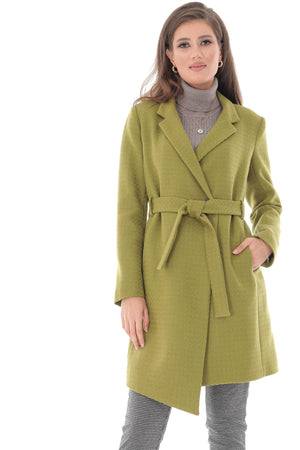 Classic trench coat, with two side pockets and belt, Aimelia - JR490